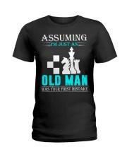 chess old man Ladies T-Shirt thumbnail