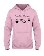 Plan for the day bobsled Hooded Sweatshirt front