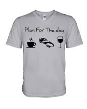 Plan for the day bobsled V-Neck T-Shirt thumbnail