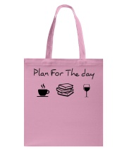 Plan for the day reading Tote Bag thumbnail