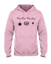 Plan for the day reading Hooded Sweatshirt front