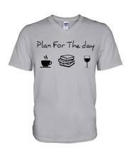 Plan for the day reading V-Neck T-Shirt thumbnail