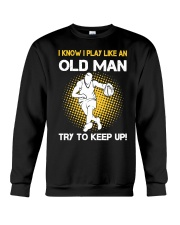 old man basketball Crewneck Sweatshirt thumbnail