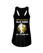 old man basketball Ladies Flowy Tank thumbnail