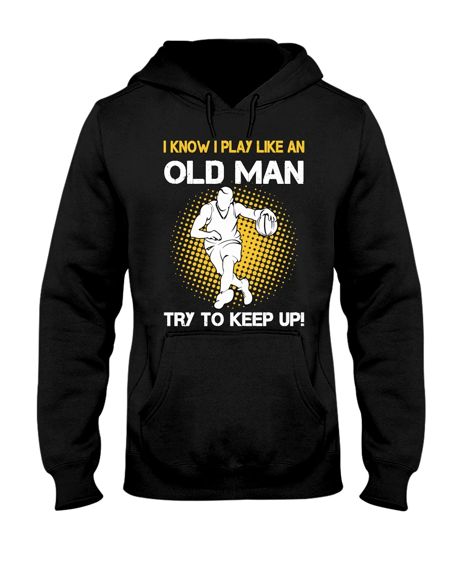 old man basketball Hooded Sweatshirt