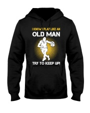 old man basketball Hooded Sweatshirt front