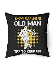 "old man basketball Indoor Pillow - 16"" x 16"" thumbnail"