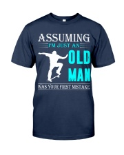 Skateboarding old man Classic T-Shirt thumbnail