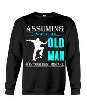 Skateboarding old man Crewneck Sweatshirt thumbnail
