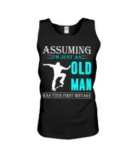 Skateboarding old man Unisex Tank thumbnail