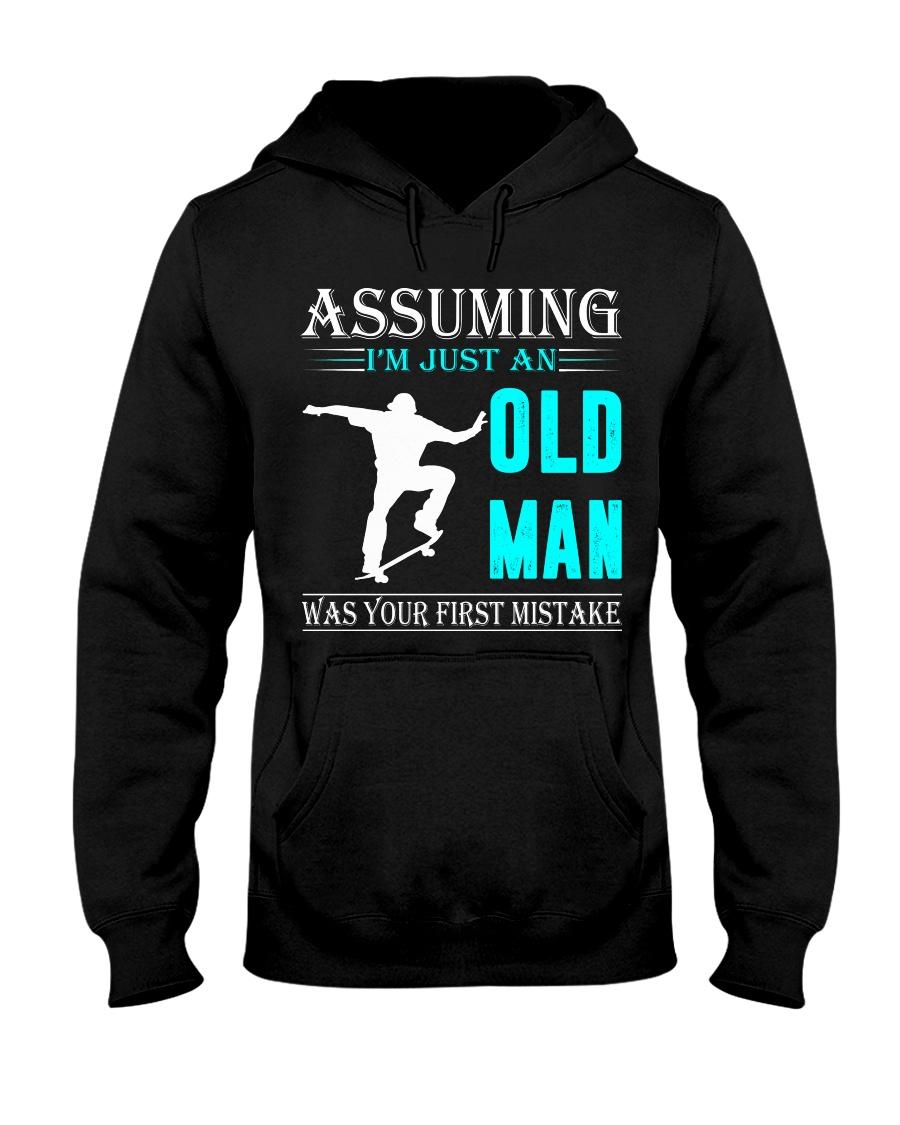 Skateboarding old man Hooded Sweatshirt