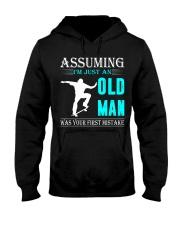 Skateboarding old man Hooded Sweatshirt front