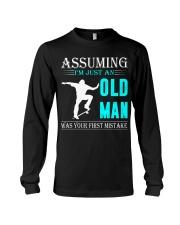 Skateboarding old man Long Sleeve Tee thumbnail