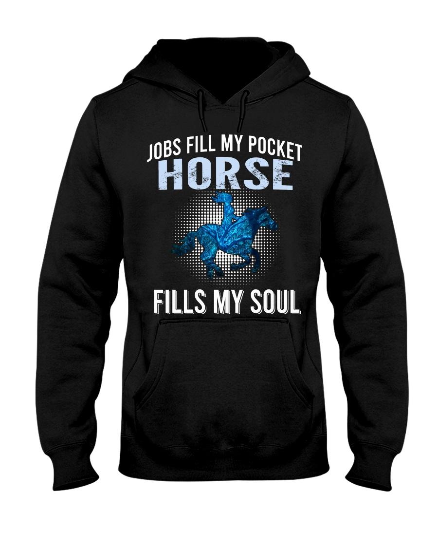 fills my soul-horse Hooded Sweatshirt