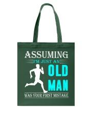 jogging old man Tote Bag thumbnail