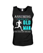 jogging old man Unisex Tank thumbnail