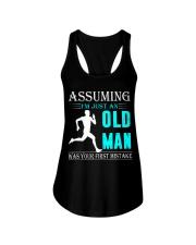 jogging old man Ladies Flowy Tank thumbnail