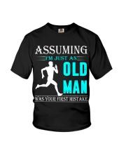 jogging old man Youth T-Shirt thumbnail
