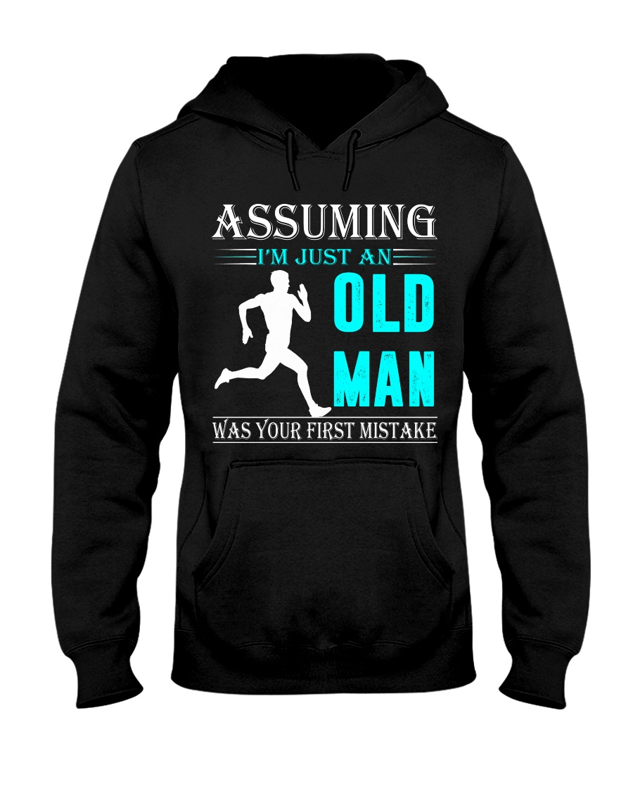 jogging old man Hooded Sweatshirt