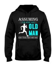 jogging old man Hooded Sweatshirt front