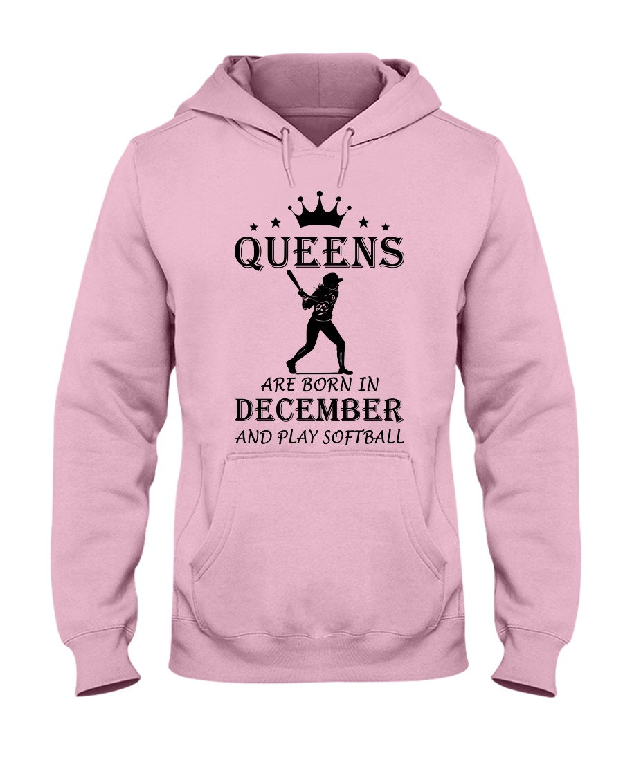 queens softball-december Hooded Sweatshirt