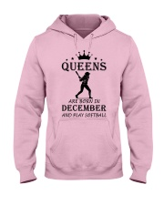 queens softball-december Hooded Sweatshirt front