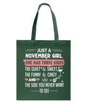 Just a november girl Tote Bag thumbnail