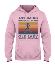 Old lady jogging Hooded Sweatshirt front
