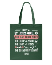 just a july girl Tote Bag tile