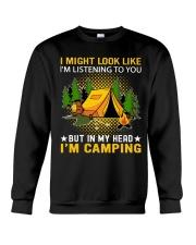 camping in my head Crewneck Sweatshirt thumbnail