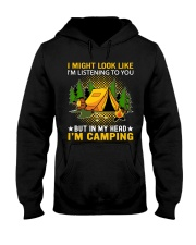 camping in my head Hooded Sweatshirt front
