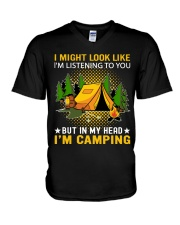 camping in my head V-Neck T-Shirt thumbnail