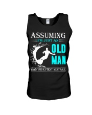 Surfing old man Unisex Tank thumbnail