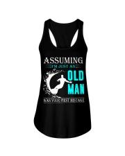 Surfing old man Ladies Flowy Tank thumbnail