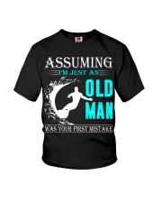 Surfing old man Youth T-Shirt thumbnail