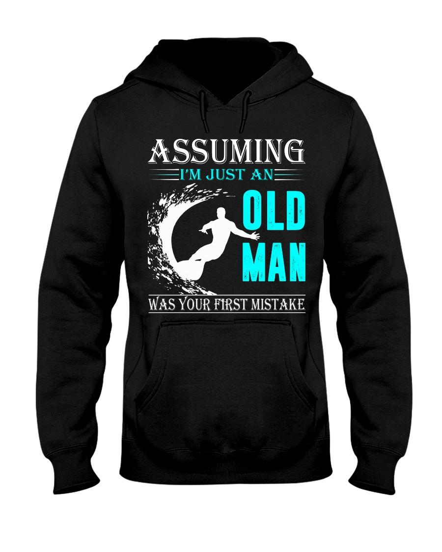 Surfing old man Hooded Sweatshirt