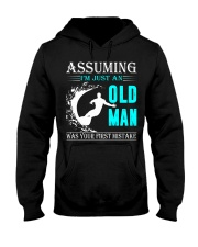 Surfing old man Hooded Sweatshirt front
