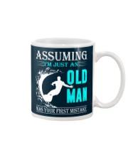 Surfing old man Mug thumbnail