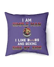 """Man and boxing Indoor Pillow - 16"""" x 16"""" thumbnail"""