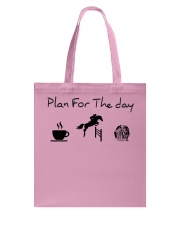Plan for the day show jumping and chocolate Tote Bag thumbnail