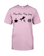 Plan for the day show jumping and chocolate Classic T-Shirt thumbnail