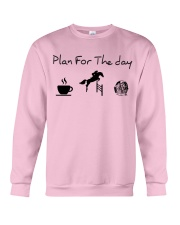 Plan for the day show jumping and chocolate Crewneck Sweatshirt thumbnail