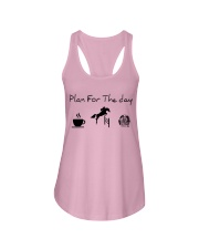 Plan for the day show jumping and chocolate Ladies Flowy Tank thumbnail