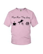 Plan for the day show jumping and chocolate Youth T-Shirt thumbnail