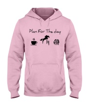 Plan for the day show jumping and chocolate Hooded Sweatshirt front