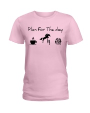 Plan for the day show jumping and chocolate Ladies T-Shirt thumbnail
