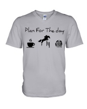 Plan for the day show jumping and chocolate V-Neck T-Shirt thumbnail