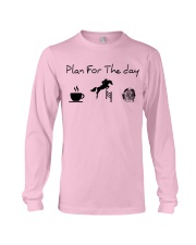 Plan for the day show jumping and chocolate Long Sleeve Tee thumbnail