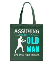 boxing old man Tote Bag thumbnail