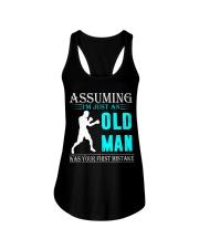 boxing old man Ladies Flowy Tank thumbnail